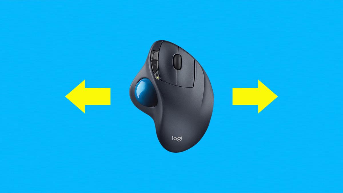 Logicool  トラックボールマウスで横スクロールする方法